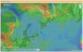 Interactive wind map in real time